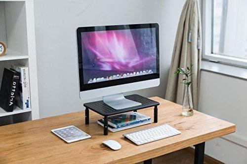 CASIII Stand for Computer Display Vented Laptop Stand, iMac, Platform Adjustable 5.75 Tall, CAS-081 Black