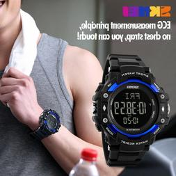 SKMEI Men's Heart Rate Monitor Calories Counter Fitness Trac
