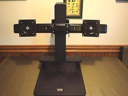 """New  HP Dual Monitor Stand.Holds up to 24"""" Monitors AK084AA/"""