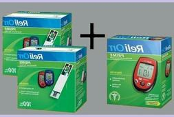 ReliOn Prime Blood Glucose Monitor System Meter Kit and 200