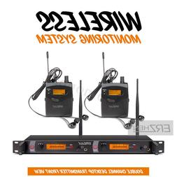 Professional UHF 2CH Wireless Stage Monitor System Receiver