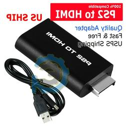PS2 to HDMI Video Converter Adapter with 3.5mm Audio Output