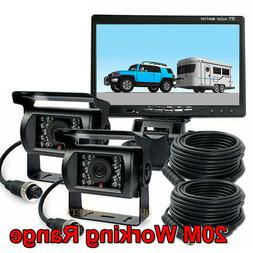 "REAR VIEW BACKUP CAMERA CAB OBSERVATION SYSTEM 7"" WIRED MONI"