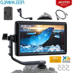 """FEELWORLD S55 5.5"""" Camera Field Video Monitor with Tilt Arm"""