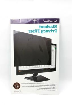 "Secure View LCD Monitor Privacy Filter For 18.5"" Widesc"