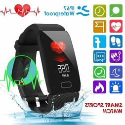 Smart Watch Heart Rate Blood Pressure Monitor Fitness Tracke