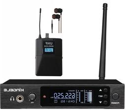 KINGELE Stereo 200CH Professional UHF Wireless In-Ear Monito