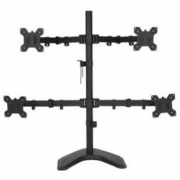 4 LCD Tilt Monitor Mount Desk TV Bracket Stand Adjustable Ar