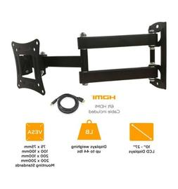 """TV / Monitor Full Motion Ematic Wall Mount 10"""" - 27"""" up to 4"""