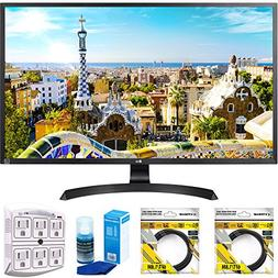 """LG 32"""" 3840x2160 Ultra HD 4k LED Monitor  with 2x 6ft High S"""