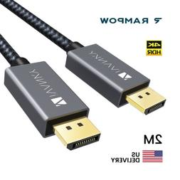 US 2M 4K V1.2 Display Port DP to DP Cable Male to Male for P