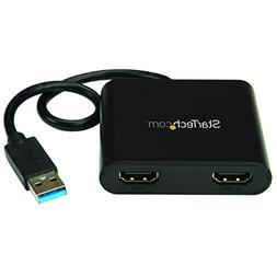 StarTech USB to Dual HDMI Adapter - USB to HDMI Adapter - US