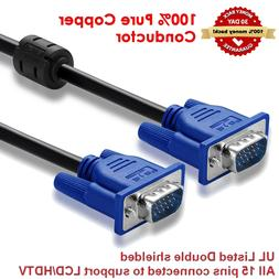 VGA cable male to male for PC Monitor LCD Laptop smart TV 6/